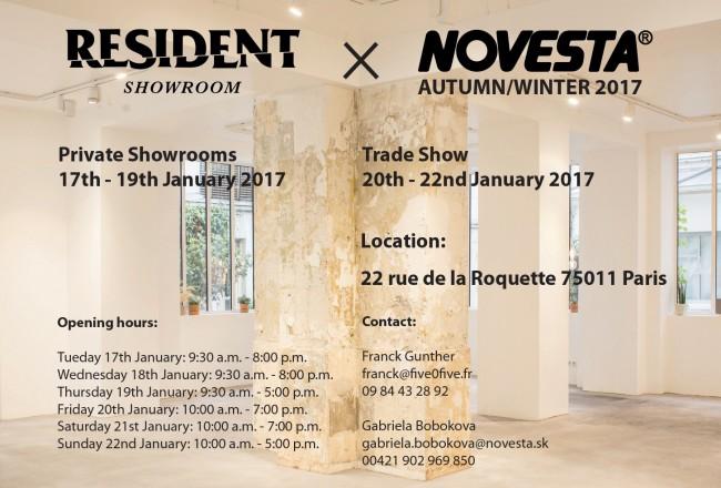 NOVESTA invitation resident show